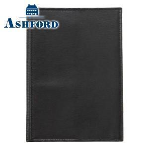 ブックカバー 革 アシュフォード キャロル 文庫 ブックカバー ブラック 8599-011|nomado1230