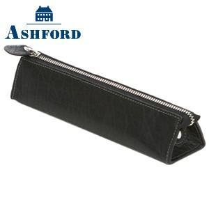 ペンケース 革 名入れ アシュフォード ディープ ペンケース ブラック No. 8662-011|nomado1230