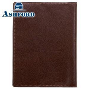 ブックカバー 革 アシュフォード ディープ 文庫サイズ ブックカバー ブラウン No. 8683-022|nomado1230