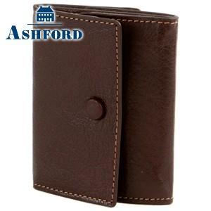 コインケース レディース 革 名入れ アシュフォード ディープ コインレット ブラウン 8713-022|nomado1230