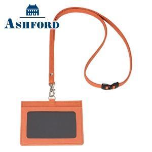 IDカードケース 革 名入れ アシュフォード キャロル IDカードホルダー キャロット 8772-041 nomado1230
