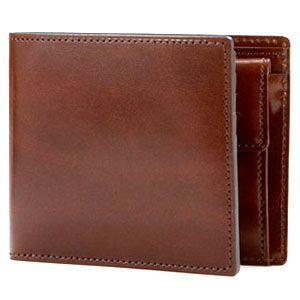 2つ折 財布 アシュフォード 名入れ無料 ルガード 022 2つ折りウォレット ブラウン 8853-022 8853|nomado1230