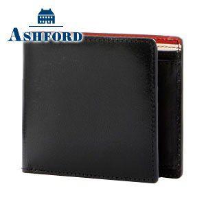 メンズ 2つ折 財布 革 名入れ アシュフォード マイミクスチュア 2つ折 ウォレット ブラック 8880-011 8880|nomado1230