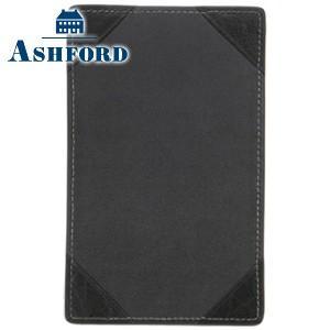 ノートカバー 革 名入れ アシュフォード ディープ Lサイズ ジョッター ブラック No. 9096-011|nomado1230