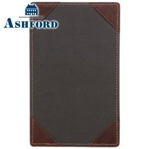 ノートカバー 革 名入れ アシュフォード ディープ Lサイズ ジョッター ブラウン No. 9096-022|nomado1230