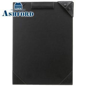ノートカバー 革 A4 名入れ アシュフォード ディープ A4サイズ ジョッター ブラック No. 9097-011|nomado1230