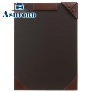 ノートカバー 革 A4 名入れ アシュフォード ディープ A4サイズ ジョッター ブラウン No. 9097-022|nomado1230
