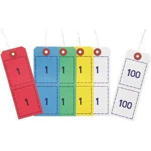 番号札 オープン工業 連番荷札 1-100 5組 BF-105|nomado1230