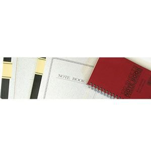 ノート B5 横罫 エムディーエス(MDS) 6色アソート B5 横罫 色上質紙 5冊セット ワインレッド Wリング・スプリングノート 31-290 nomado1230 03