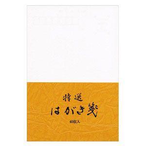 ポストカード エムディーエス(MDS) 特選はがき箋 からし 波光紙 無罫 40枚 5セット 73-734|nomado1230