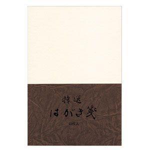ポストカード エムディーエス(MDS) 特選はがき箋 こげ茶 レオバルギー紙 無罫 5セット 73-739|nomado1230
