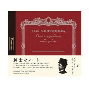 ノート 方眼 アピカ プレミアム 124×140ミリ 方眼 CDノート 3冊セット 赤 CDS80S|nomado1230