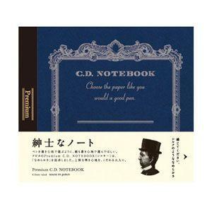 ノート 横罫 アピカ プレミアム 124×140ミリ 横罫 CDノート 3冊セット 紺 CDS80Y|nomado1230