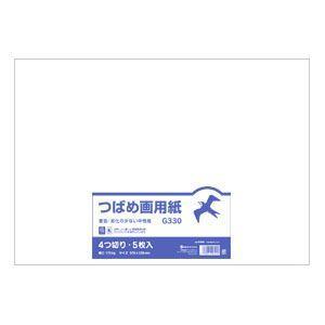 画用紙 オキナ つばめ画用紙 B判4切 特白画白170キログラム 5枚入 100個セット G330|nomado1230
