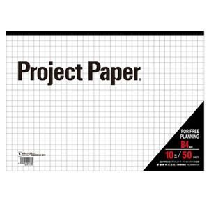 ノート B4 方眼 オキナ プロジェクトペーパー B4 方眼罫10mm 50枚 PPB40S 5セット PPB40S|nomado1230
