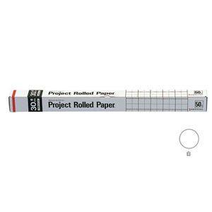 模造紙 方眼 オキナ プロジェクトロール 50ミリ方眼罫 白 PR5WH|nomado1230