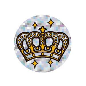 ごほうびシール キラキラ オキナ パリオシール 王冠シール 直径25ミリ 直径25ミリ 120片入 10個セット PS1435 nomado1230 03