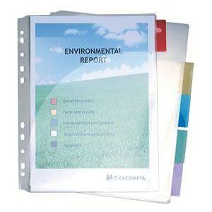 インデックス エグザコンタ クリアポケットインデックス 10冊セット 4834E|nomado1230