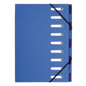 ドキュメントケース A4 エグザコンタ マルチパートファイル 9分割 3冊セット ブルー 52982E|nomado1230