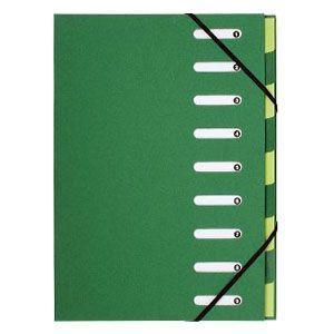 ドキュメントケース A4 エグザコンタ マルチパートファイル 9分割 3冊セット グリーン 52983E|nomado1230