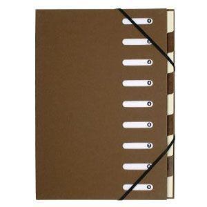 ドキュメントケース A4 エグザコンタ マルチパートファイル 9分割 3冊セット ブラウン 52984E|nomado1230