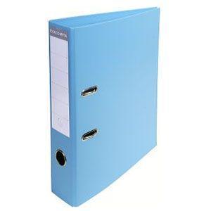 2穴ファイル A4 エグザコンタ レバーアーチファイル 70ミリ 2穴 2冊セット ライトブルー 53702E|nomado1230