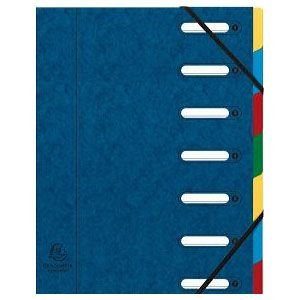 ドキュメントケース A4 エグザコンタ マルチパートファイル 7分割 4冊セット ブルー 55072E|nomado1230