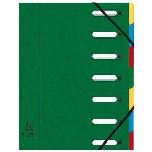 ドキュメントケース A4 エグザコンタ マルチパートファイル 7分割 4冊セット グリーン 55073E|nomado1230