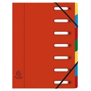 ドキュメントケース A4 エグザコンタ マルチパートファイル 7分割 4冊セット レッド 55075E|nomado1230