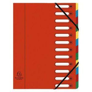 ドキュメントケース A4 エグザコンタ マルチパートファイル 12分割 3冊セット レッド 55125E|nomado1230