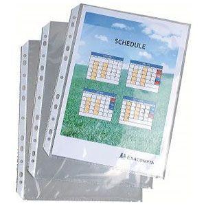 クリアポケット A4 エグザコンタ A4サイズ エグザショー用透明ポケット 20枚入り 5冊セット 5834E|nomado1230