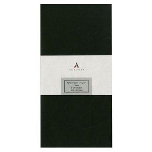 封筒 アルボレス(arbores) シリオカラー 封筒 5個セット ブラック AE-202|nomado1230