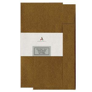 封筒 アルボレス(arbores) シリオパール 封筒 5個セット ブラウン AE-303|nomado1230