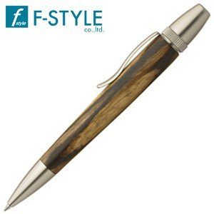 高級 ボールペン 名入れ エフスタイル (F-STYLE) 杢杢工房 野村収氏作 銘木ボールペン 黒柿 SP15305|nomado1230