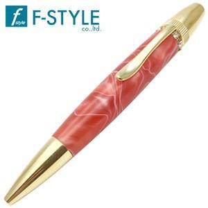 高級 ボールペン 名入れ エフスタイル (F-STYLE) Acrylic&Ring スワロフスキーTop ボールペン レッド TAS1700RD|nomado1230