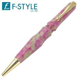 高級 ボールペン 名入れ エフスタイル (F-STYLE) Acrylic&Ring スワロフスキーM3 ボールペン ピンク TAS1701P|nomado1230