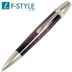 高級 ボールペン 名入れ エフスタイル (F-STYLE) WoodSanBurst ギター塗装 キャンディーカラー カリーメープル 1611 ボールペン パープル TGT1611PU|nomado1230