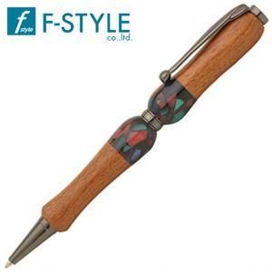 高級 ボールペン 名入れ エフスタイル (F-STYLE) Acrylic&Wood ボールペン カリン×ブラック TWD1603KR|nomado1230