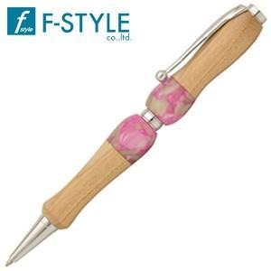 高級 ボールペン 名入れ エフスタイル (F-STYLE) Acrylic&Wood ボールペン さくら×ピンク TWD1603SK|nomado1230