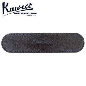 カヴェコ ペンケース カヴェコ エコ ソフトレザーロングケース 2本用 ブラック CASEEC4|nomado1230