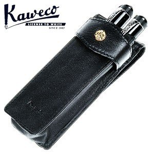 カヴェコ ペンケース カヴェコ ロングタイプ 本革製ペンケース 2本用 ブラック KWCASLO2|nomado1230