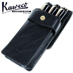 カヴェコ ペンケース カヴェコ ロングタイプ 本革製ペンケース 3本用 ブラック KWCASLO3|nomado1230