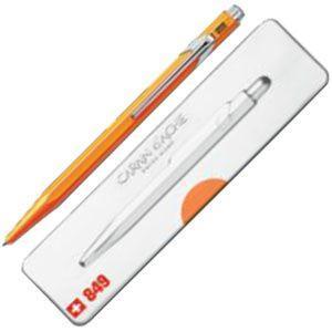 高級 ボールペン 名入れ カランダッシュ 849 POPLINE ポップライン ボールペン オレンジ NF0849-530|nomado1230