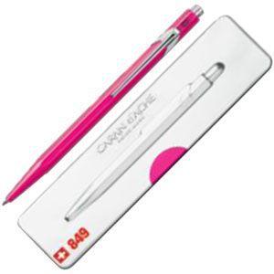 高級 ボールペン 名入れ カランダッシュ 849 POPLINE ポップライン ボールペン 蛍光ピンク NF0849-590|nomado1230