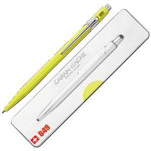 高級 ボールペン 名入れ カランダッシュ 849 POPLINE ポップライン ボールペン 蛍光イエロー NF0849-970|nomado1230