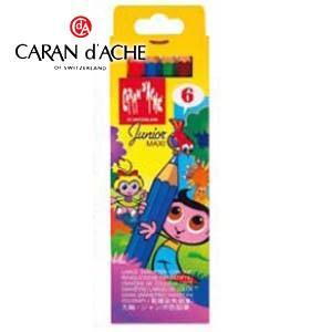 色鉛筆 水彩 カランダッシュ ジュニアジャンボ色鉛筆 6色紙箱入 水溶性色鉛筆 0498-406 nomado1230