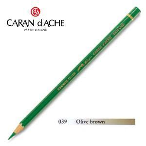色鉛筆 油性 カランダッシュ アーティストライン パブロ 油性色鉛筆 単色 オリーブブラウン 3個セット 0666-039|nomado1230