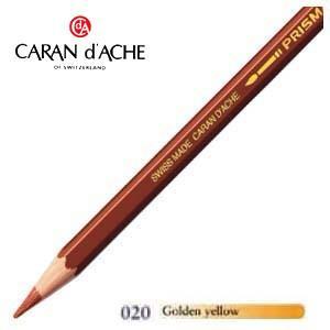 色鉛筆 水彩 カランダッシュ アーティストライン プリズマロ 水溶性色鉛筆 単色 ゴールドイエロー 3個セット 0999-020|nomado1230