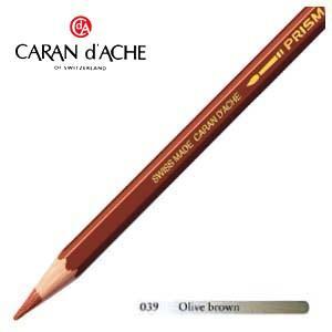 色鉛筆 水彩 カランダッシュ アーティストライン プリズマロ 水溶性色鉛筆 単色 オリーブブラウン 3個セット 0999-039|nomado1230