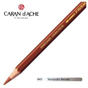 色鉛筆 水彩 カランダッシュ アーティストライン プリズマロ 水溶性色鉛筆 単色 vandycke brown 3個セット 0999-045 nomado1230